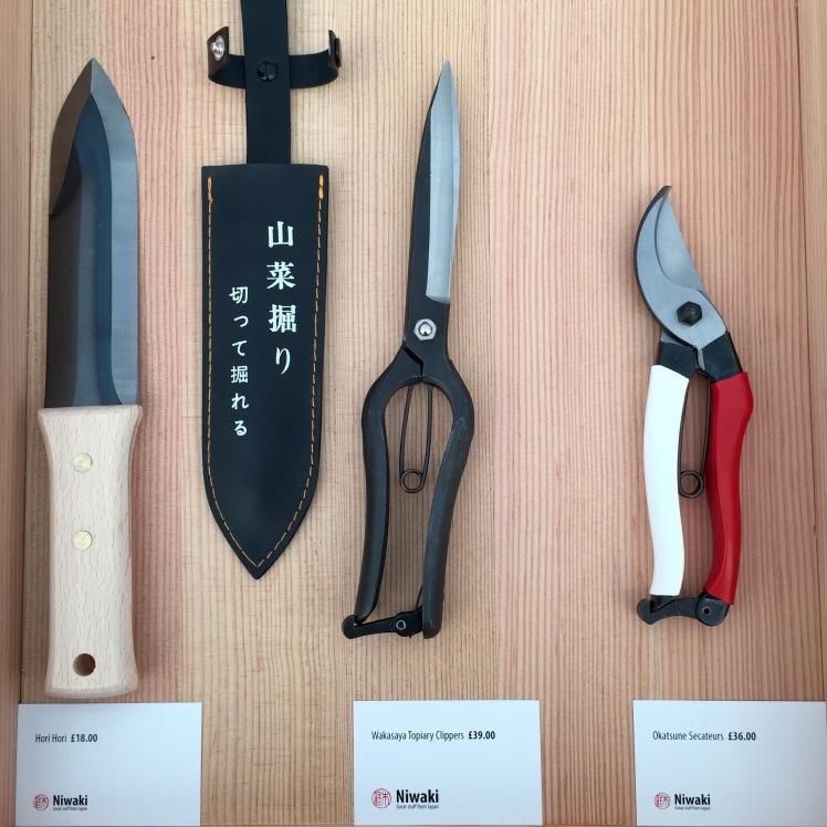Tools ny Niwaki, Grow London, June 2015