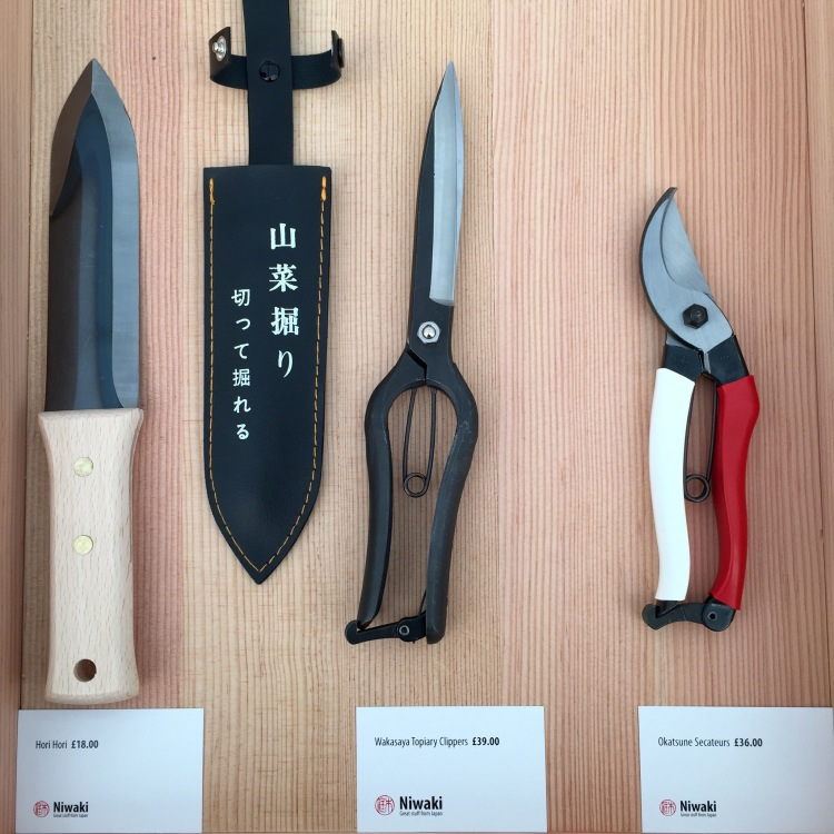 Tools ny Niwaki, Grow London, June 2015