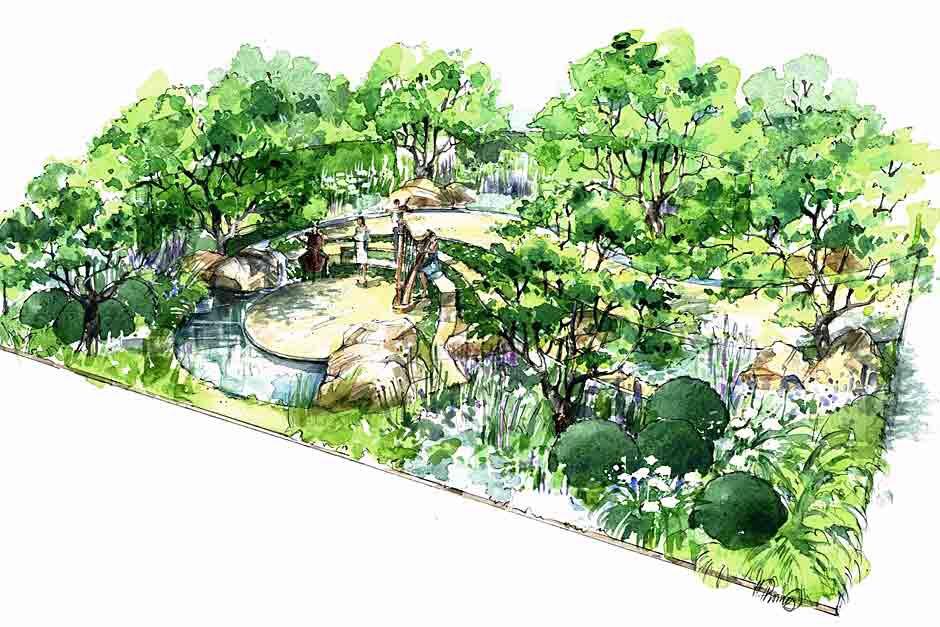 Paul Martin. Encore - a music lover's garden. Hampton Court 2015