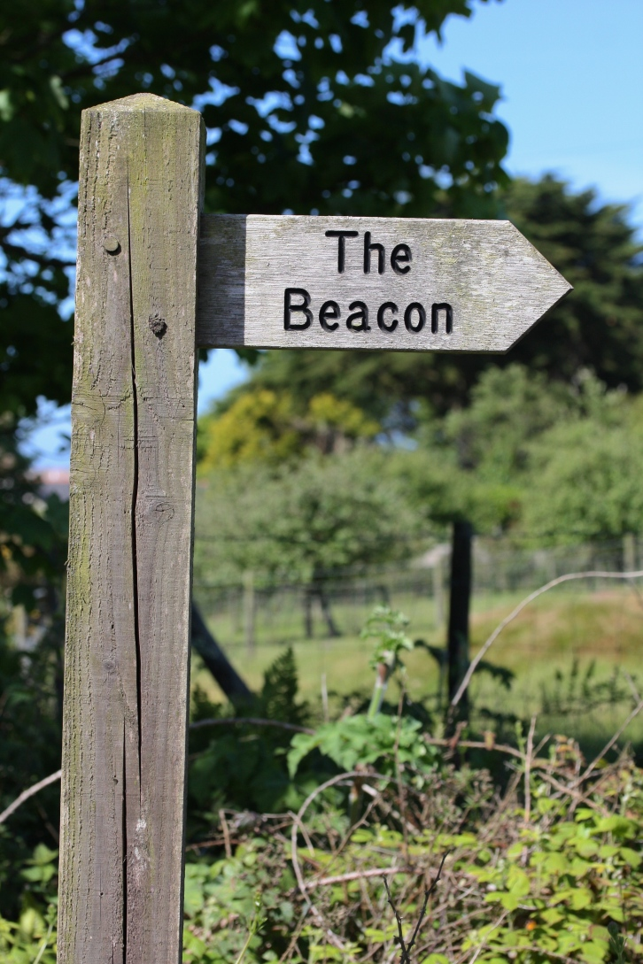 Sign to 'The Beacon', St Agnes, June 2015