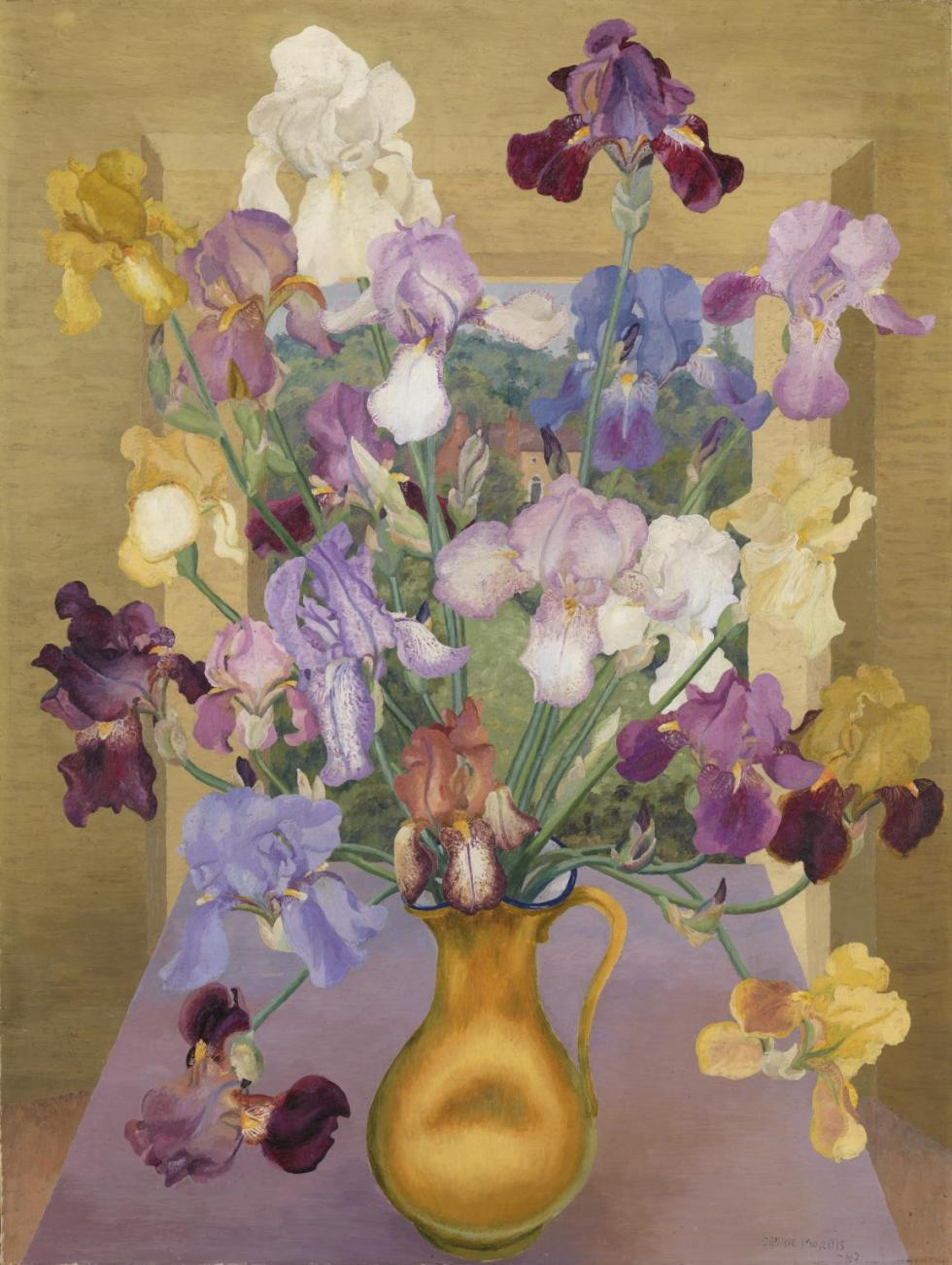 'Iris Seedlings' painted in 1943 by Sir Cedric Morris (copyright: Estate of Sir Cedric Morris)