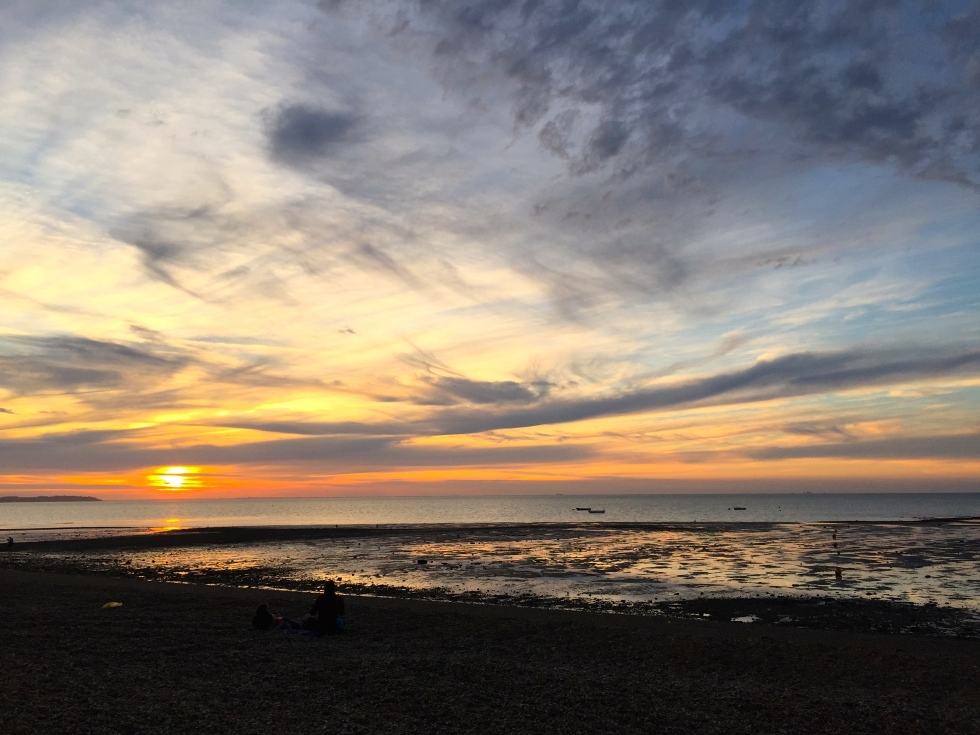 Whitstable sunset, July 2015