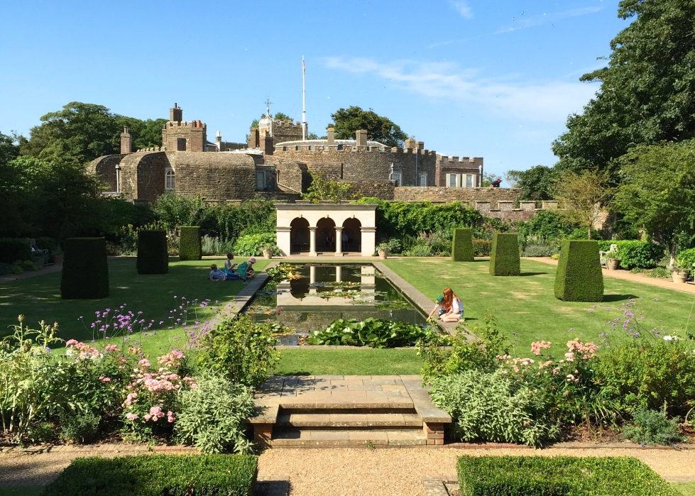 The Queen Mother's Garden, Walmer Castle, Kent, August 2015
