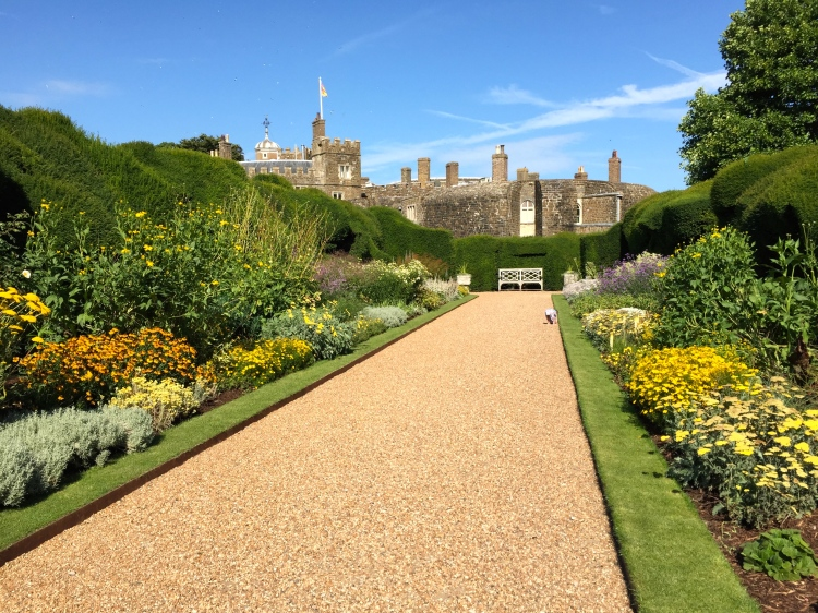 The Broadwalk, Walmer Castle, Kent, August 2015