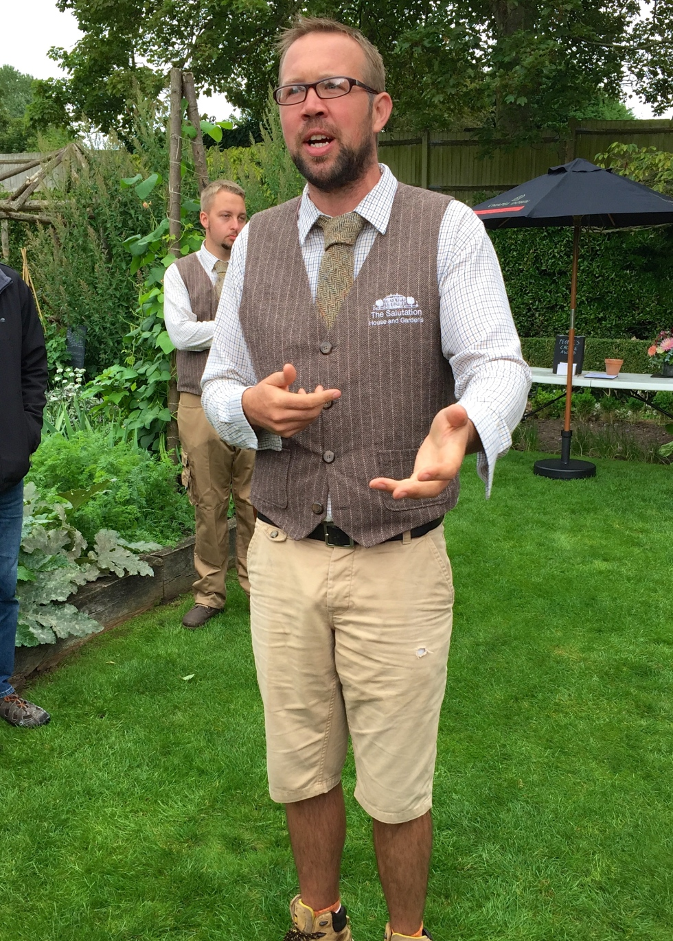 The man himself, Steven Edney, Head Gardener at The Salutation