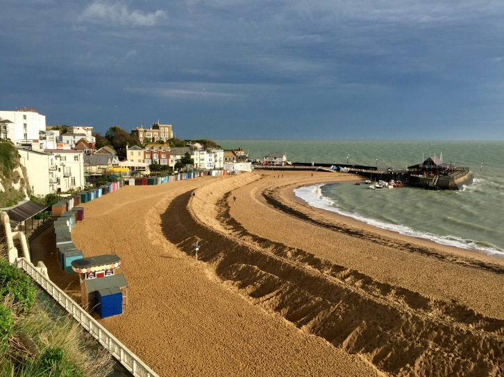 Viking Bay, Broadstairs, prepared for everything The English Channel can throw at it this winter