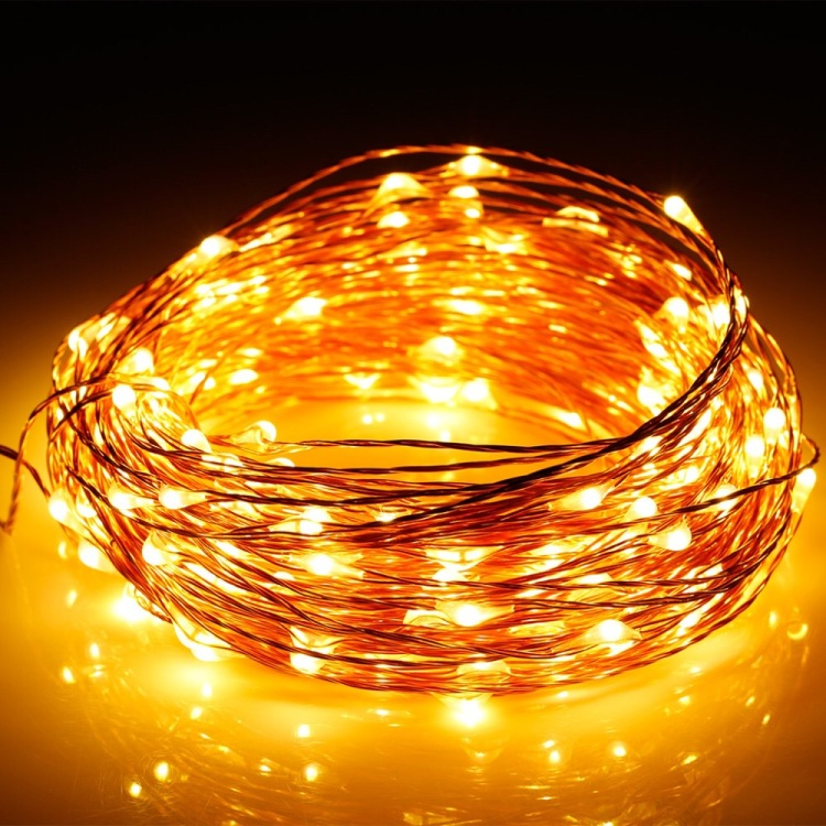 Fine copper wire lights are the latest thinking in Christmas lighting
