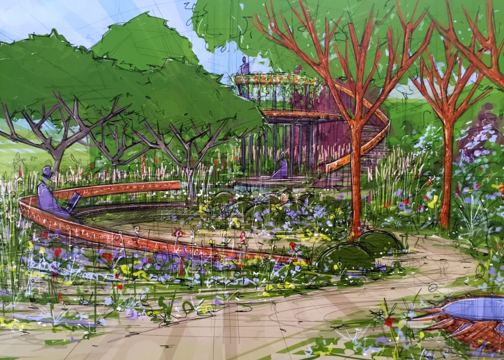 Design for The Winton Beauty of Mathematics Garden by Nick Bailey, Head Gardener at Chelsea Physic Garden