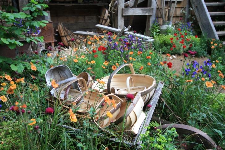 Detail of A Trugmaker's Garden, Chelsea 2015