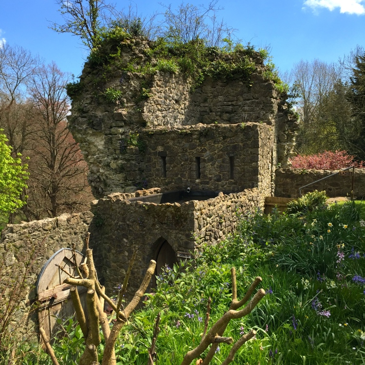 The Gents' toilets are housed at the bottom of a ruined tower