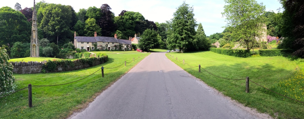 The beautifully composed village of Stourton is integral to the garden at Stourhead