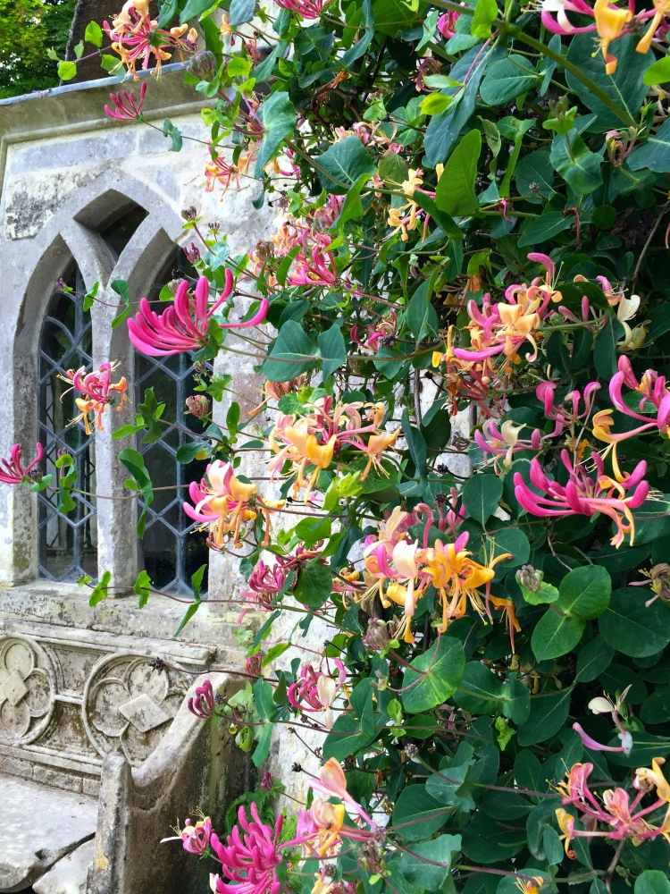 Honeysuckle wreaths the charming Gothic Cottage