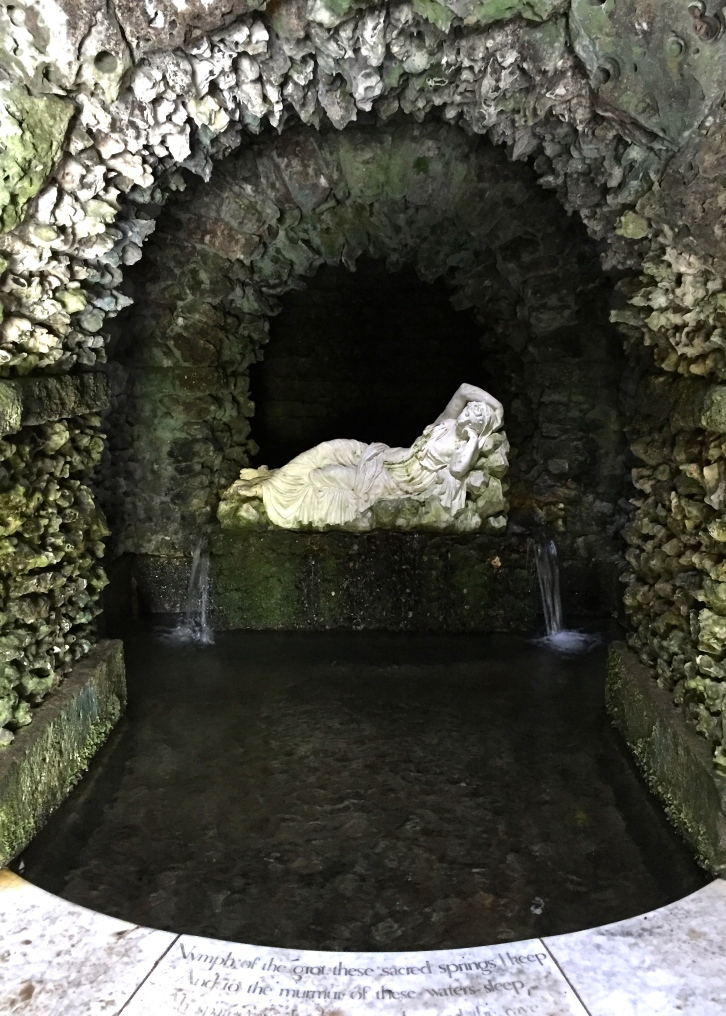 "The Nymph is copied from the ""sleeping Ariadne"" in the Belvedere Garden of the Vatican in Rome"