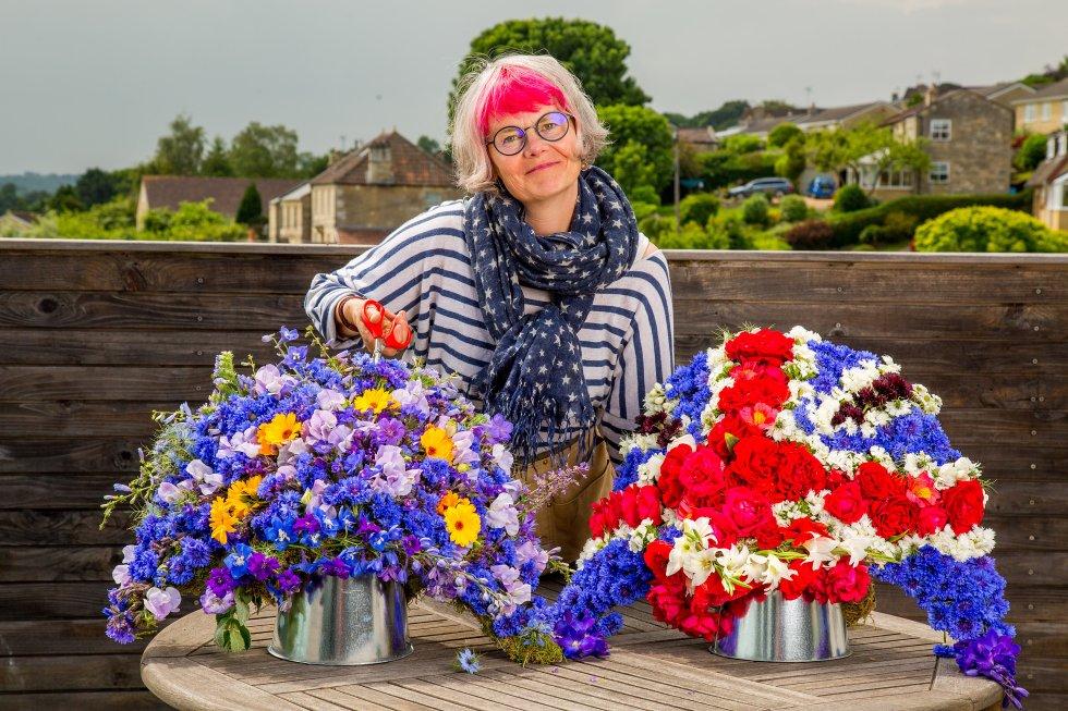 Fiona Haser Bizony, owner of Electric Daisy Flower Farm