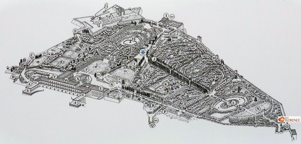 Plan of the Giardino di Boboli