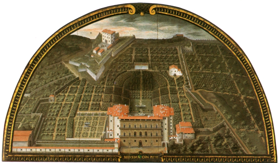 Lunette of the Boboli Gardens by Flemish Artist Giusto Utens