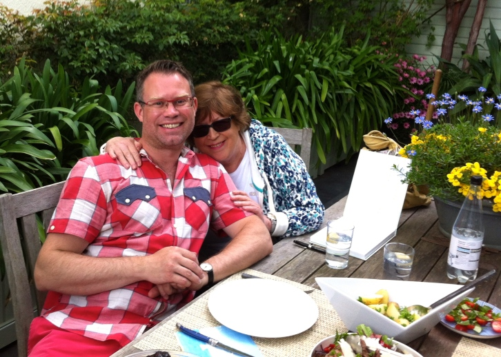 Joy and I having lunch at The Watch House, June 2013