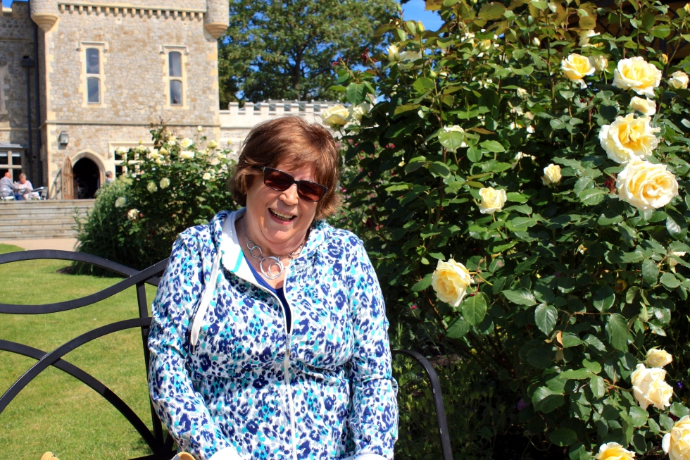 Joy at Whitstable Castle in June 2013