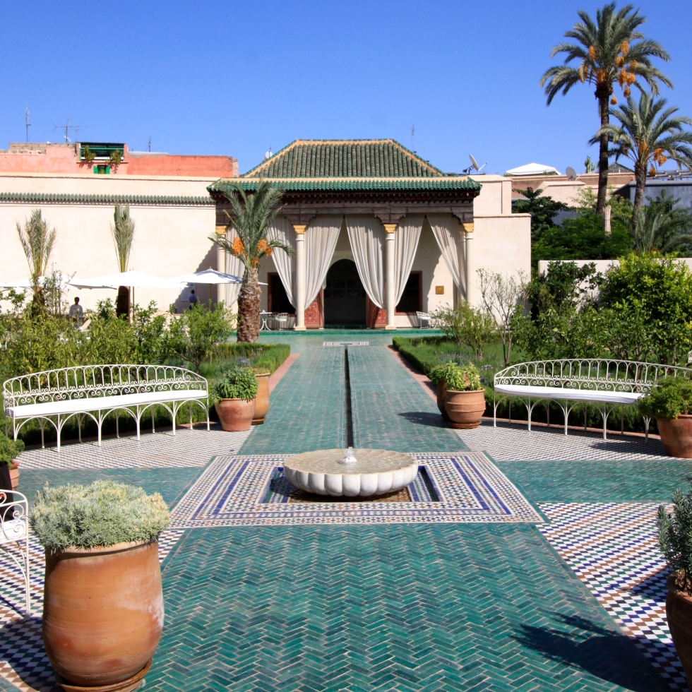 The Hbiqa pavilion, Le Jardin Secret, Marrakech, September 2016