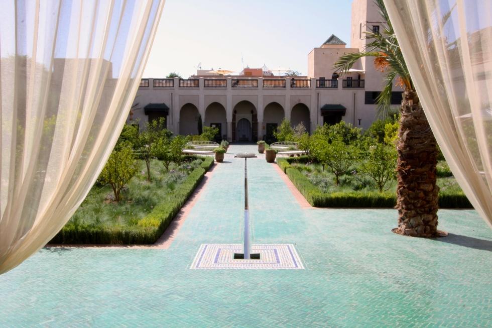 View from the Habiqa pavilion, Le Jardin Secret, Marrakech, September 2016