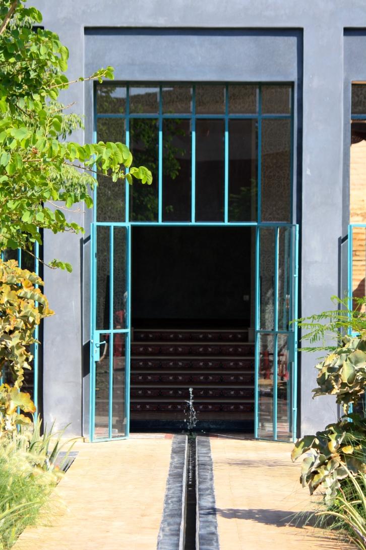 Reception building doors, Le Jardin Secret, Marrakech, September 2016