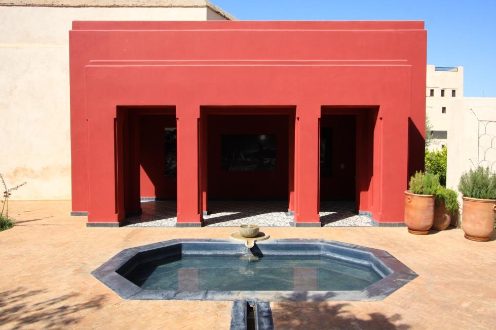 New pavilion, Le Jardin Secret, Marrakech, September 2016