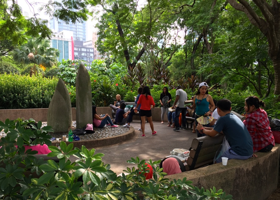 Kowloon Park attracts a cosmopolitan mix of people