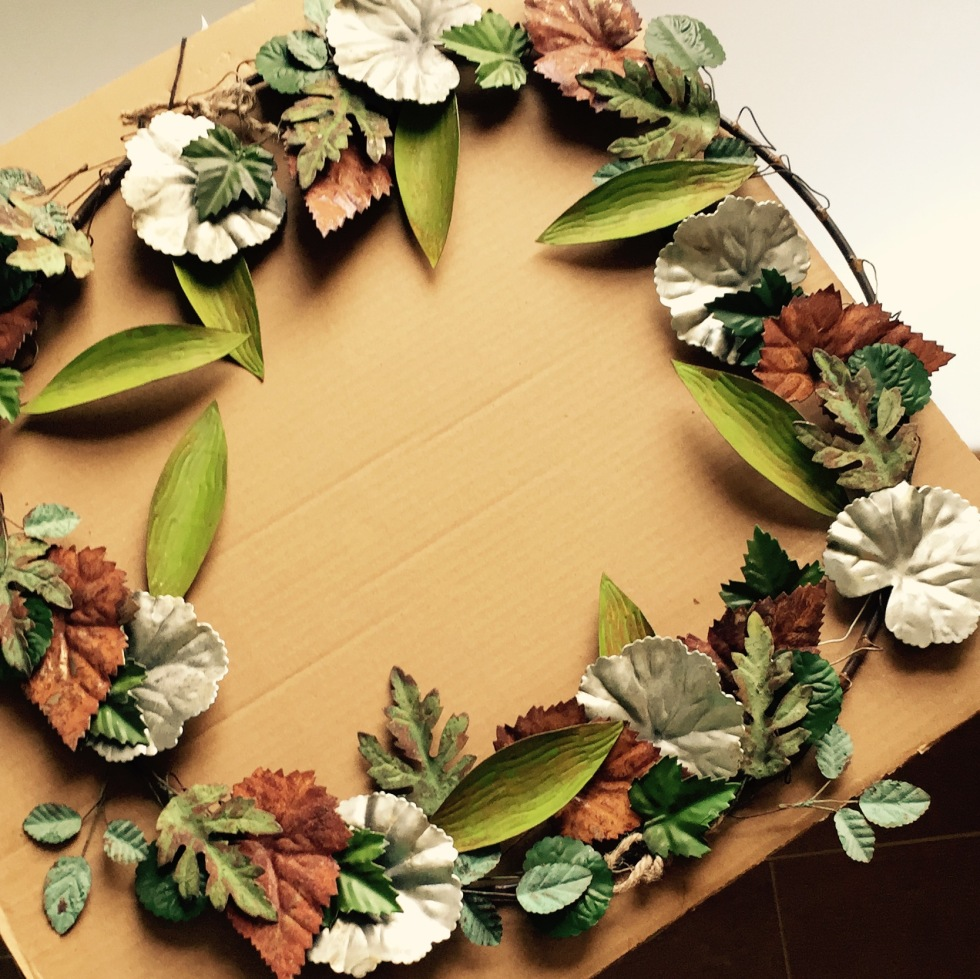 Terrain metal Christmas wreath, The Watch House, December 2016