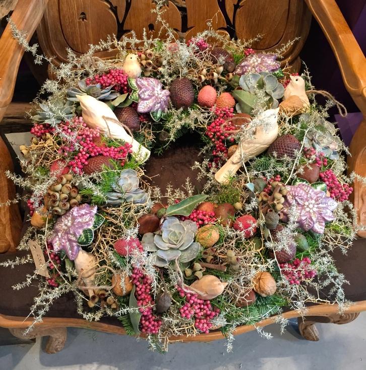 Christmas wreath, Oogenlust, Eindoven, The Netherlands, December 2016