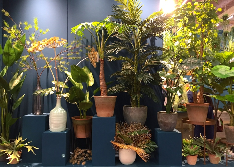 Artificial plants and stems, Christmas World, January 2017