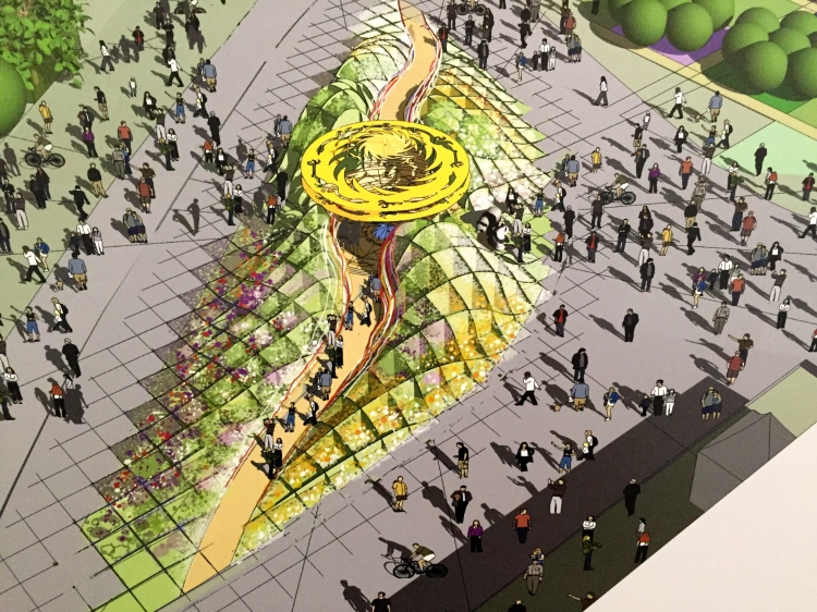 The Chengdu Silk Road Garden, planned for Chelsea 2017