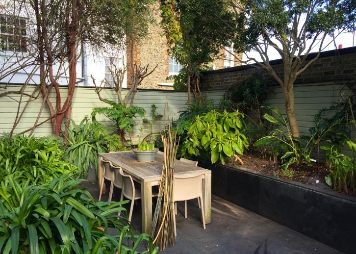 The Watch House garden, February 2017
