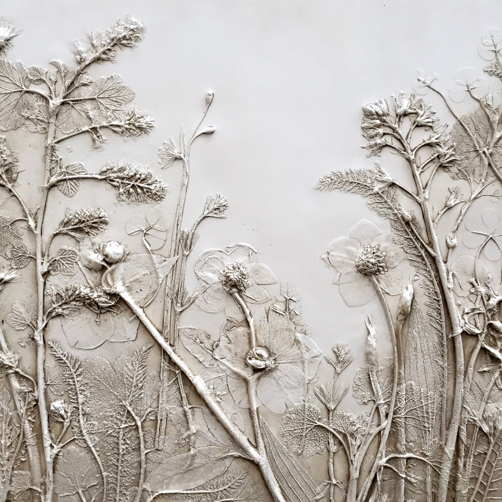 A ghostly plaster cast, created by Rachel Dein